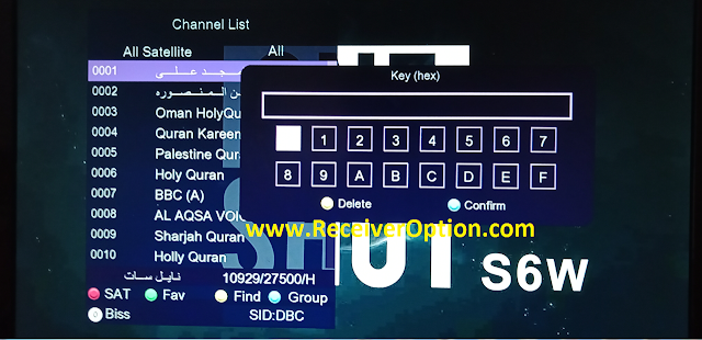 ONE SHOT S6W 1506TV NEW SOFTWARE WITH FACEBOOK LIVE & DIRECT BISS KEY OPTION