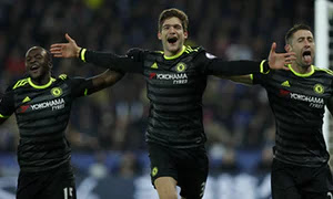 Chelsea FC Marcus Alonso, N'golo Kante and Cahill