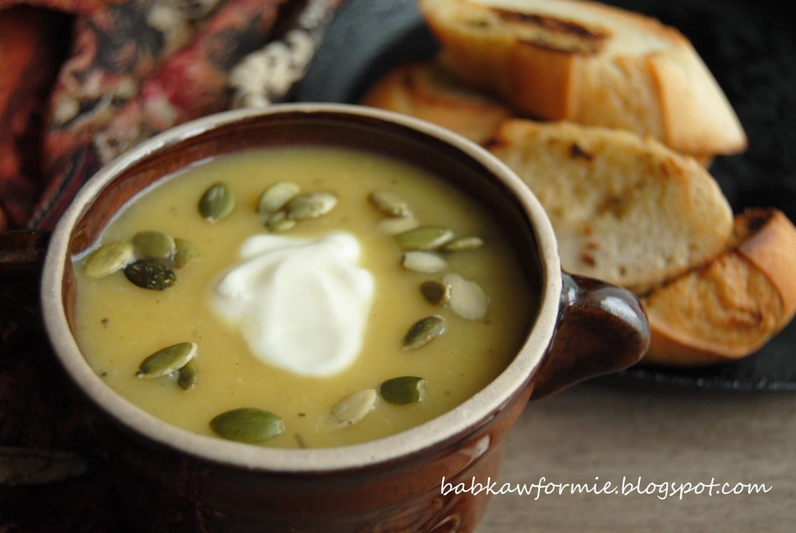 zupa krem z dynią i jabłkiem babkawformie.blogspot.com