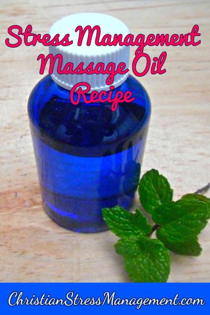 Stress management massage oil recipe