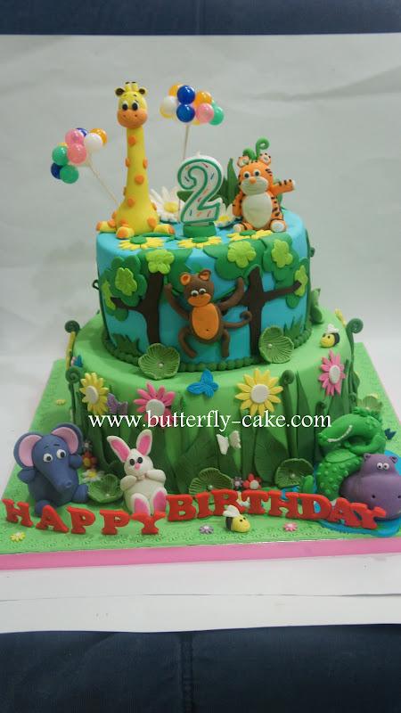 Butterfly Cake Jungle Theme Cake