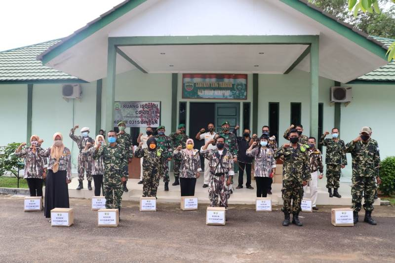 Pembinaan KBT Kodim 0315/Bintan TA. 2020, Dandim 0315/Bintan Ajak Keluarga Besar TNI Pro Aktif Bantu Pemerintah dalam Pelaksanaan New Normal