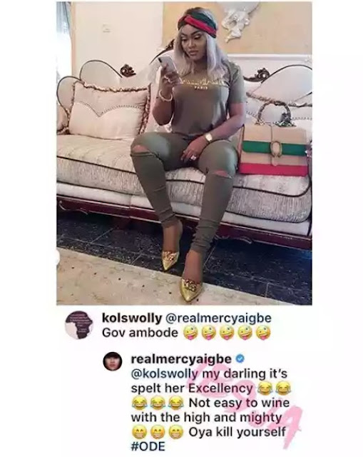 Actress Mercy Aigbe initially denied sleeping with Gov. Ambode, But now, she starts embracing the Ambode tag