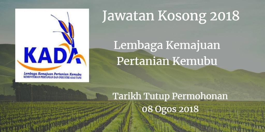 Jawatan Kosong Lembaga Kemajuan Pertanian Kemubu 08 Ogos 2018
