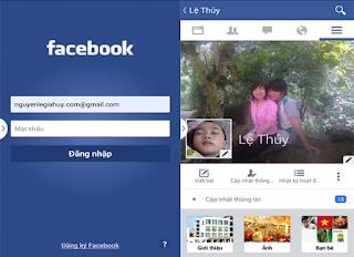 đăng nhập facebook trên điện thoại