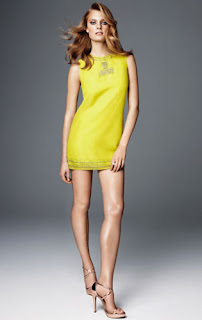 Short Chartreuse Mini Dress H&M Glamour Collection