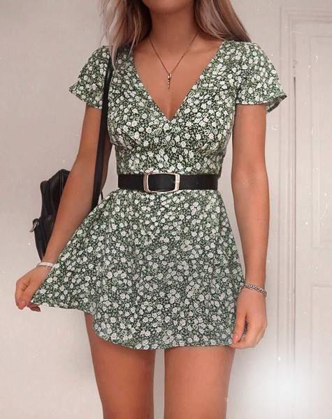 outfit vestido floral