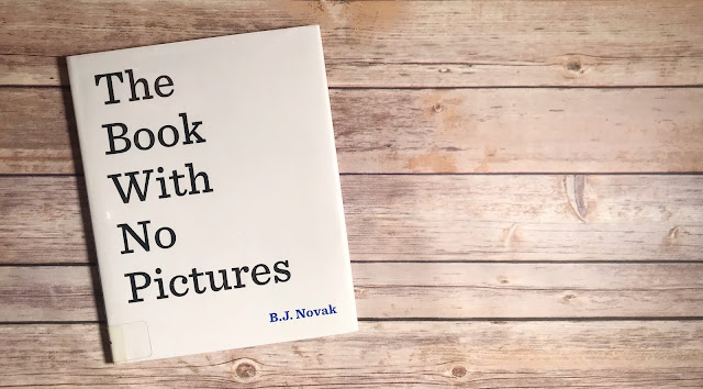 """Picture Book with text """"The Book with No Pictures"""""""