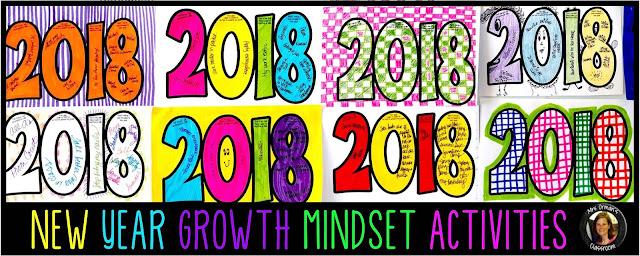 New Year Growth Mindset Creative Activities 2018 www.traceeorman.com