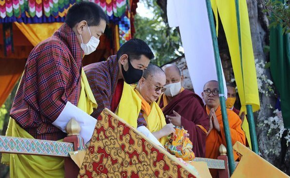 King Jigme Khesar Namgyel Wangchuck and Queen Jetsun Pema. Je Thrizur passed away on April 8