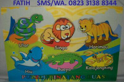 Puzzle Kayu Anak Binatang Buas