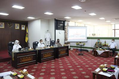 Pemprov Lampung Gelar Rakor Rencana Operasional Penegakan Hukum Tentang Adaptasi Kebiasaan Baru