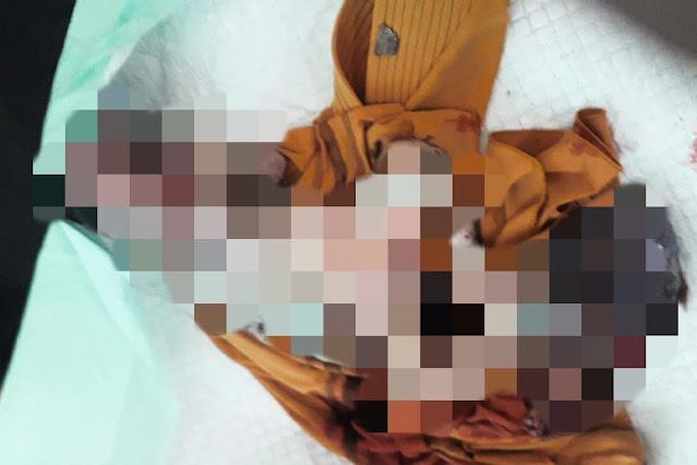 Mayat bayi yang ditemukan di pinggir kali KLU dikerumuni semut