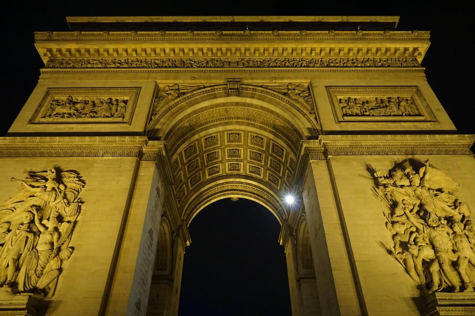 エトワールの凱旋門(Arc de triomphe de l'Étoile)の正面