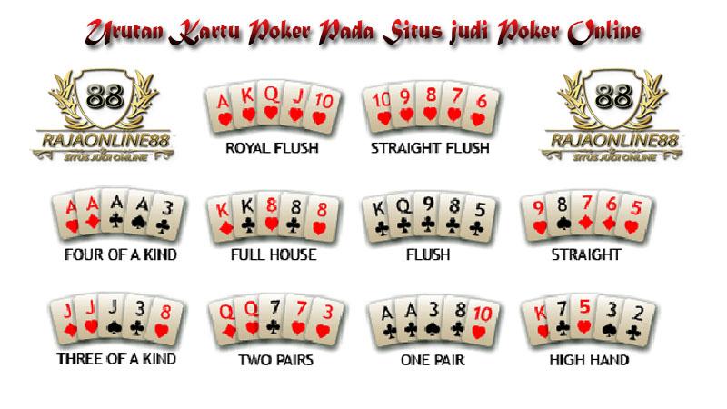 Urutan Permainan Kartu Poker Di Situs Judi Poke Online