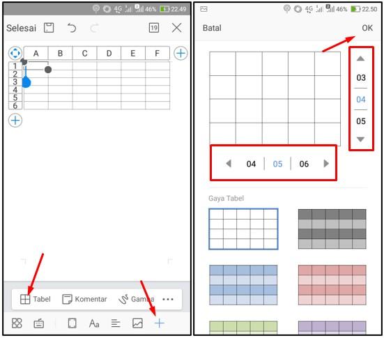 Cara Membuat Tabel di Word HP