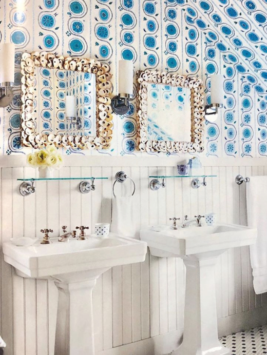 Oyster Shell Vanity Mirrors Bathroom