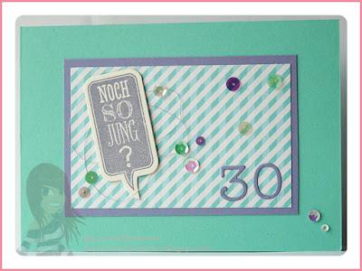 Stampin' Up! Rosa Mädchen Kulmbach Geburtstagskarte mit Herzbordüre und Ganz schön aufgeblasen