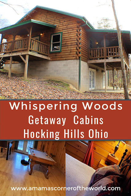 Pinnable image for Getaway Cabins Whispering Woods #25 cabin in the Hocking Hills