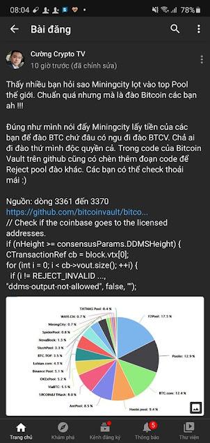 Miningcity.com Bitcoin Vault BTCV có lừa đảo scam không?