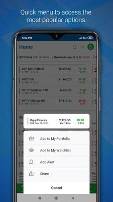 تحميل تطبيق لتتبع الاسواق المالية Moneycontrol النسخة المدفوعة
