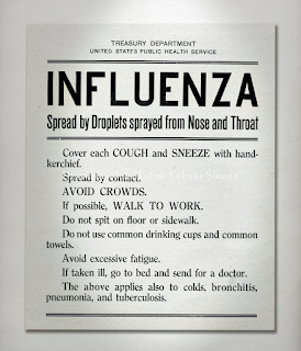 poster flu virus spanyol