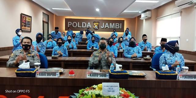 HUT KORPRI ke-49, Polda Jambi Gelar Syukuran Virtual Meeting