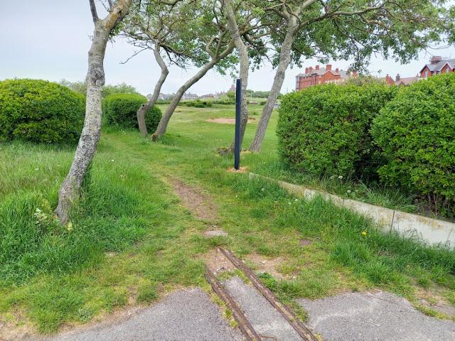 Old Miniature Railway at Marine Gardens in Fleetwood