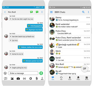 BBM Mod Like IOS (Iphone Theme)  Apk for Android Terbaru