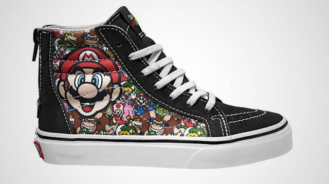 Em parceria com a marca Vans, Nintendo vai lançar coleção de tênis com temas de Mario e The Legend of Zelda