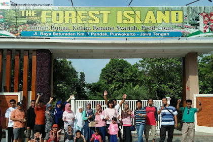 The Forest Island Baturraden, Taman Bunga, Kolam Renang Syariah, dan Food Court