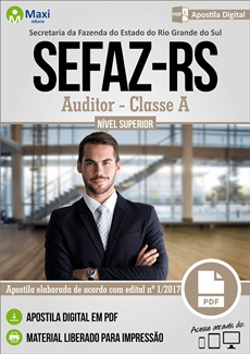 Apostila SEFAZ-RS 2018 Auditor