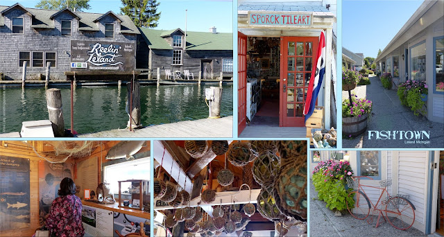 Photo by Annie Lang showing Historic  Fishtown in Leand Mi to shop, fish, enjoy and learn.
