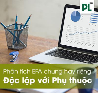 Chạy chung hay riêng biến độc lập với biến phụ thuộc trong EFA?