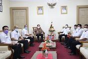 Pjs Gubernur Fatoni Terima Audiensi Pjs Walikota Bitung, Bahas Netralitas ASN dan Penanganan Covid-19