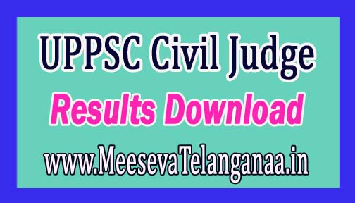 UPPSC Civil Judge Prelims Results 2016