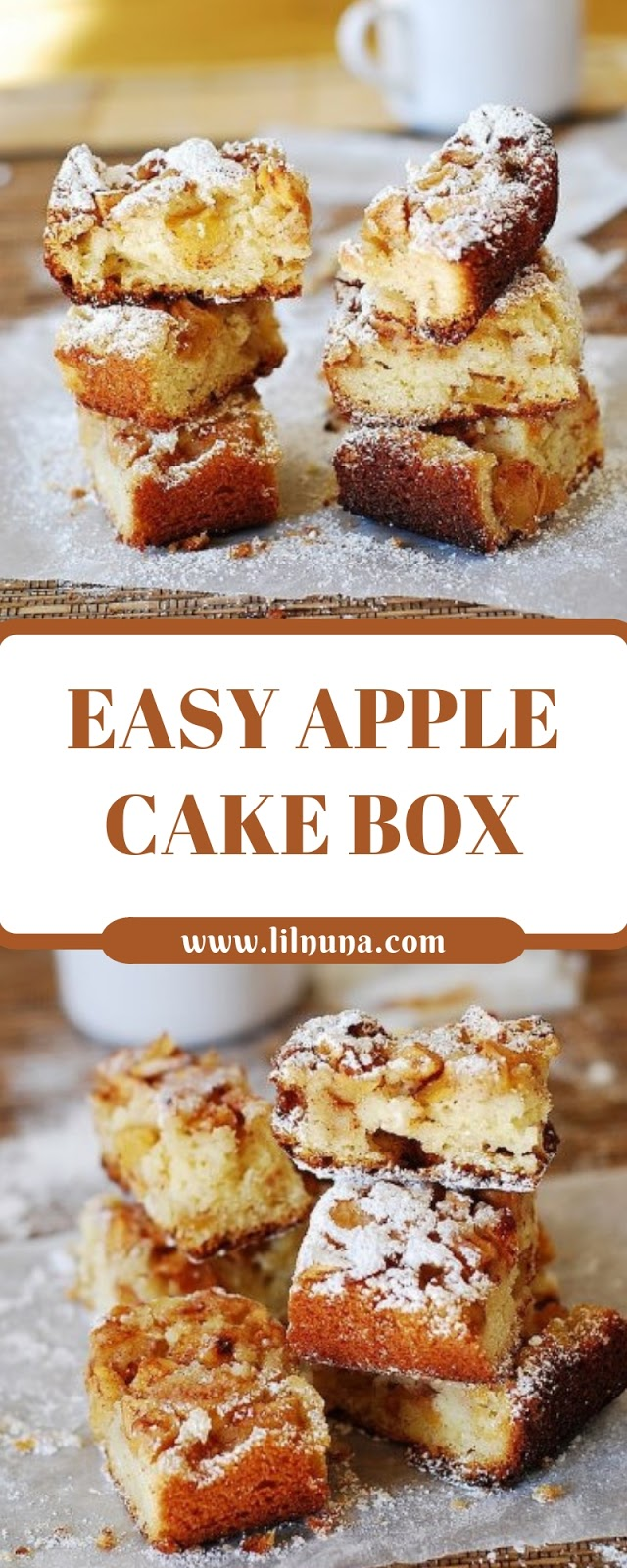 EASY APPLE CAKE BOX