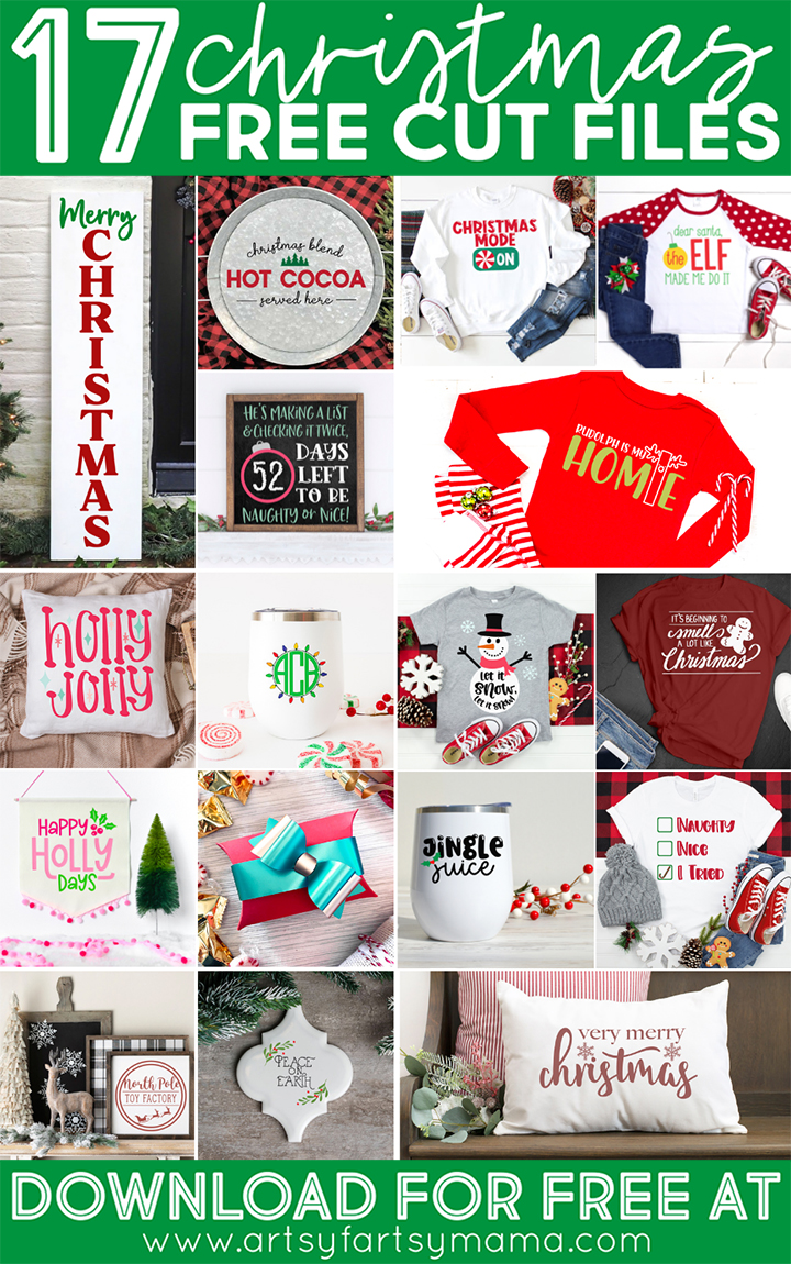 17 Free Christmas Cut Files