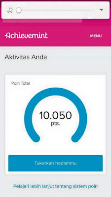 bukti point achievemint