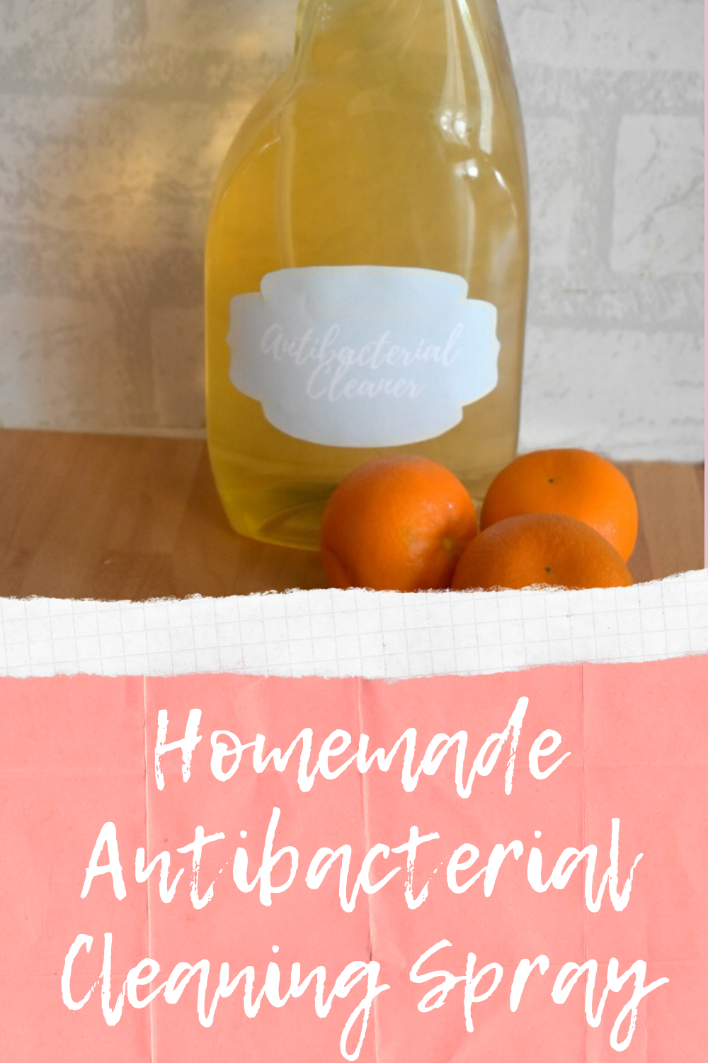 Homemade Antibacterial Cleaning Spray - Make your own cleaning products
