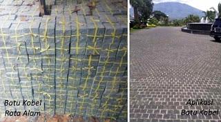 Model Desain Gambar Batu Kobel Rata Alam Teras Templek Dinding Rumah Minimalis