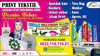 Tempat Cetak Print Spanduk Kain Textile Meteran di Kebayoran Baru, Jakarta Selatan