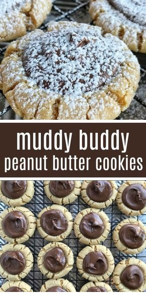Muddy Buddy Peanut Butter Cookies