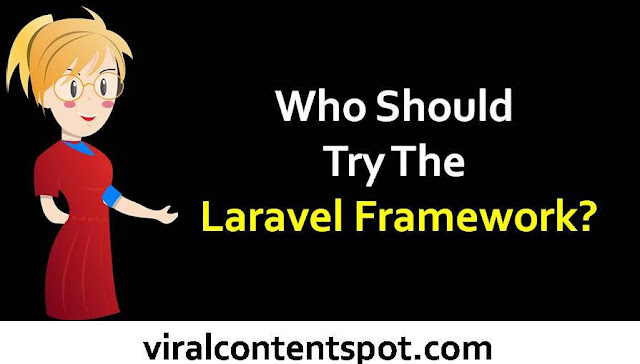 Who Should Try The LaravelFramework