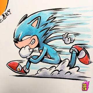 Sonic The Hedgehog por Yonson Carbonell