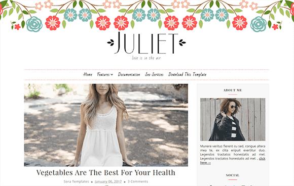Juliet mobile friendly blogger template