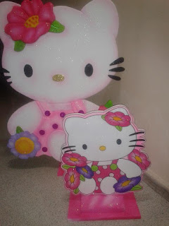 FIGURAS ICOPOR HELLO KITTY DECORACION FIESTAS MEDELLIN