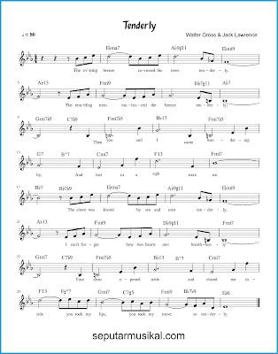 Tenderly chords jazz standar