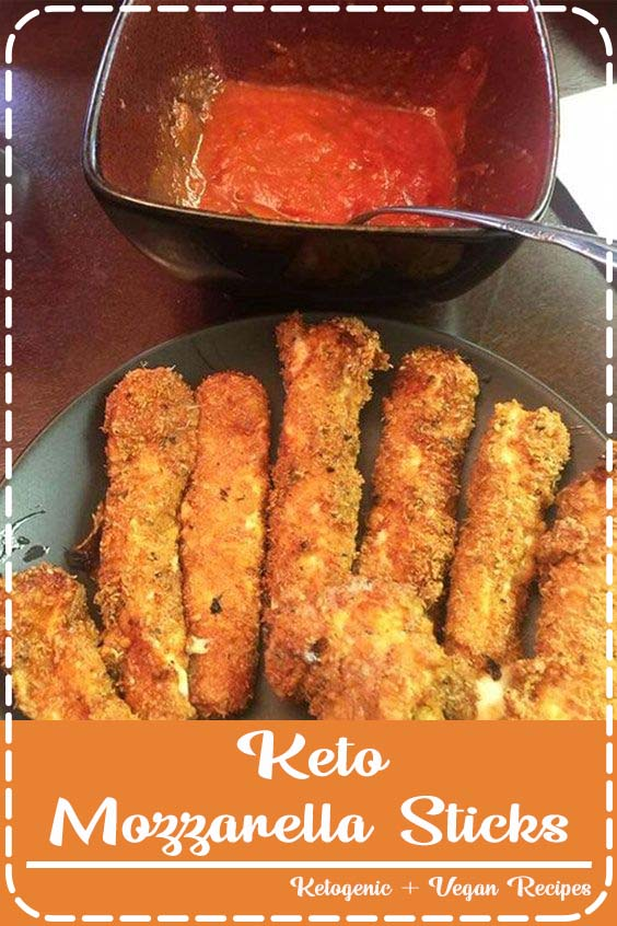 These Keto Mozzarella Sticks are made with string cheese coated in a crispy Keto Mozzarella Sticks (Ready in Less Than 30 Minutes)