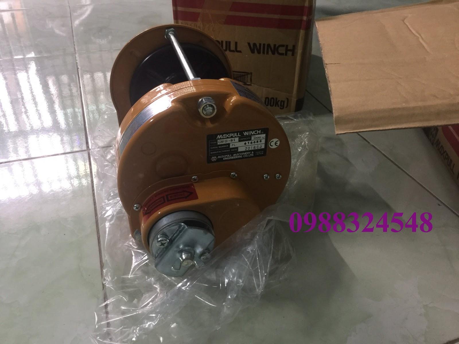 Tời quay tay Maxpull GM-10-SI 1 tấn